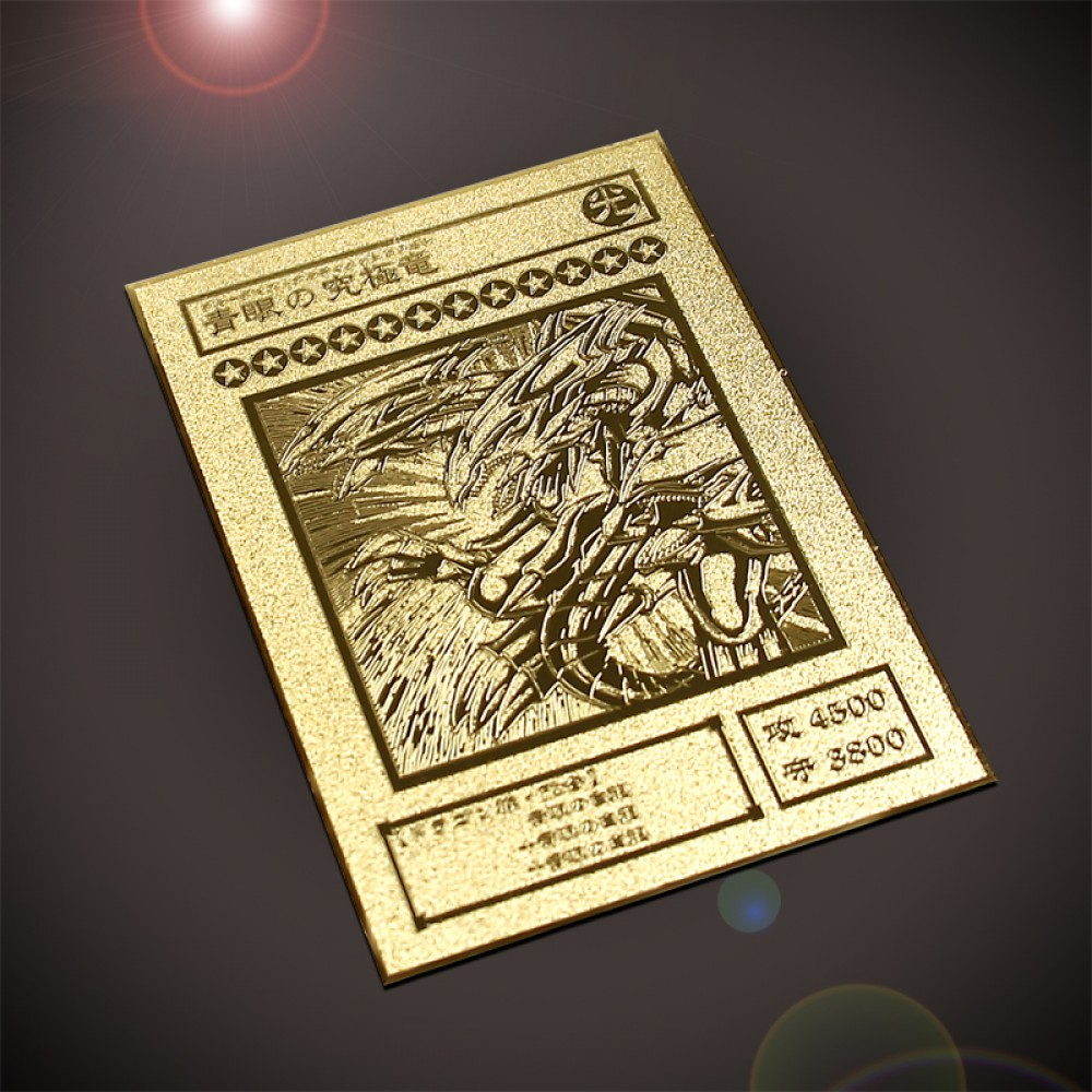 Carta Placa Dourada Ultimage Blue-eyes White Dragon - Colyseum